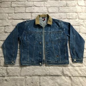 Vintage Tommy Hilfiger Jean Jacket Acid Wash XL